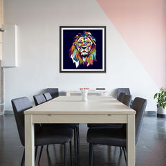 Ezposterprints - The Lion - Cubism - 32x32 ambiance display photo sample