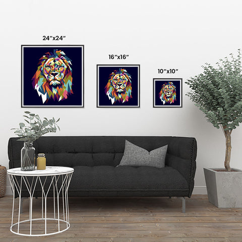 Ezposterprints - The Lion - Cubism