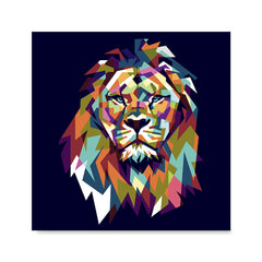 Ezposterprints - The Lion - Cubism -  ambiance display photo sample