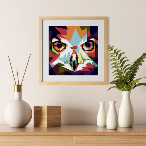 Ezposterprints - The Owl - Cubism - 12x12 ambiance display photo sample