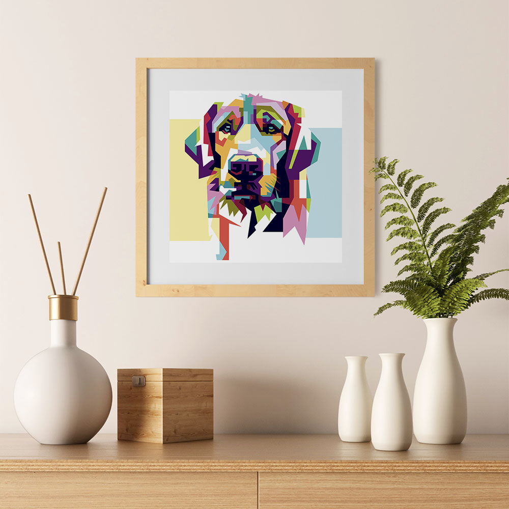 Ezposterprints - The Sad Dog - Cubism - 12x12 ambiance display photo sample