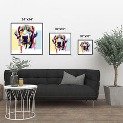 Ezposterprints - The Sad Dog - Cubism
