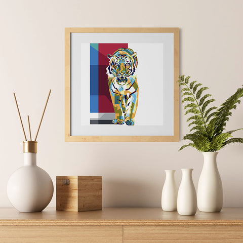 Ezposterprints - The Tiger - Cubism - 12x12 ambiance display photo sample