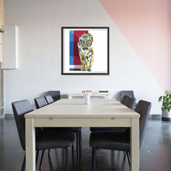 Ezposterprints - The Tiger - Cubism - 32x32 ambiance display photo sample
