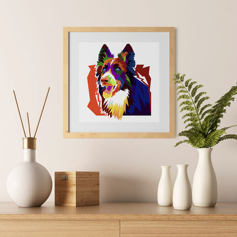 Ezposterprints - The Wolf - Cubism - 12x12 ambiance display photo sample