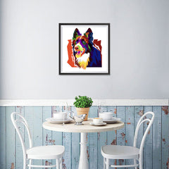 Ezposterprints - The Wolf - Cubism - 16x16 ambiance display photo sample