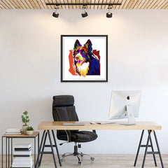 Ezposterprints - The Wolf - Cubism - 24x24 ambiance display photo sample