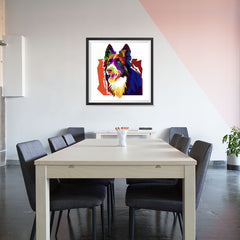 Ezposterprints - The Wolf - Cubism - 32x32 ambiance display photo sample