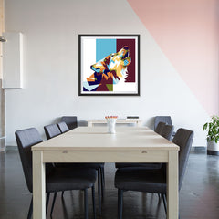 Ezposterprints - The Wolf 2 - Cubism - 32x32 ambiance display photo sample