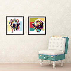 Ezposterprints - The Wolf - Cubism ambiance display photo sample