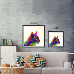 Ezposterprints - Cartoon Cat | Cubism Pop Art Design Colorful Animals ambiance display photo sample