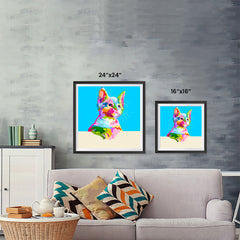 Ezposterprints - Cute Kitten | Cubism Pop Art Design Colorful Animals ambiance display photo sample