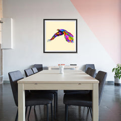 Ezposterprints - Flying Eagle | Cubism Pop Art Design Colorful Animals - 32x32 ambiance display photo sample