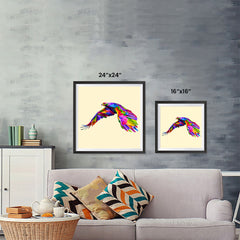 Ezposterprints - Flying Eagle | Cubism Pop Art Design Colorful Animals ambiance display photo sample