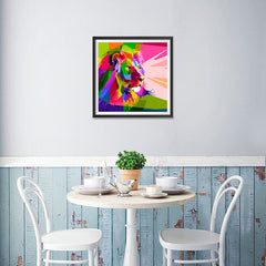 Ezposterprints - Lion | Cubism Pop Art Design Colorful Animals - 16x16 ambiance display photo sample