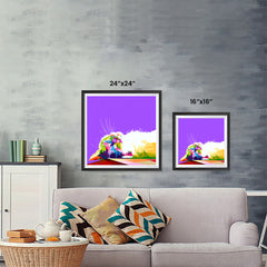 Ezposterprints - Sleeping Cat | Cubism Pop Art Design Colorful Animals ambiance display photo sample