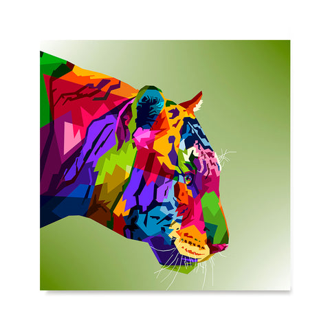 Ezposterprints - Tiger | Cubism Pop Art Design Colorful Animals