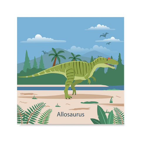 Ezposterprints - Allosaurus - Prehistoric Animals, Dinosaur Illustrations Series