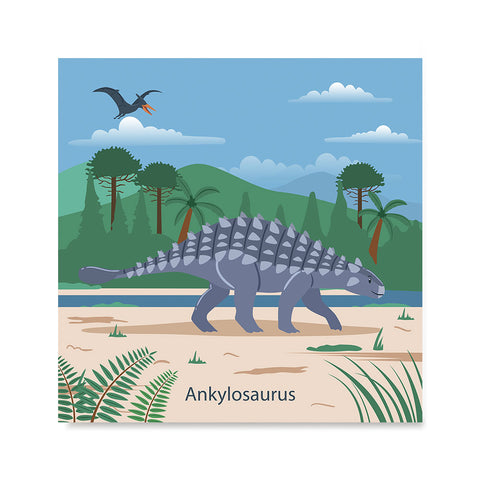 Ezposterprints - Ankylosaurus - Prehistoric Animals, Dinosaur Illustrations Series