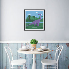 Ezposterprints - Brachiosaurus - Prehistoric Animals, Dinosaur Illustrations Series - 16x16 ambiance display photo sample