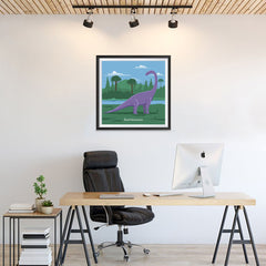 Ezposterprints - Brachiosaurus - Prehistoric Animals, Dinosaur Illustrations Series - 24x24 ambiance display photo sample