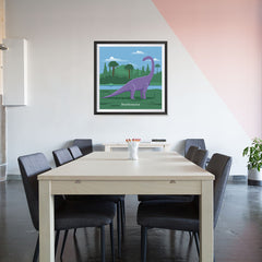 Ezposterprints - Brachiosaurus - Prehistoric Animals, Dinosaur Illustrations Series - 32x32 ambiance display photo sample