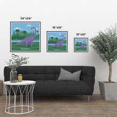 Ezposterprints - Brachiosaurus - Prehistoric Animals, Dinosaur Illustrations Series ambiance display photo sample