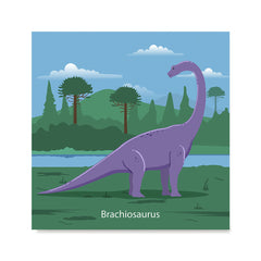 Ezposterprints - Brachiosaurus - Prehistoric Animals, Dinosaur Illustrations Series