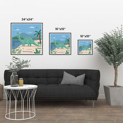 Ezposterprints - Brontosaurus - Prehistoric Animals, Dinosaur Illustrations Series ambiance display photo sample