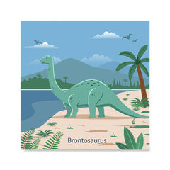 Ezposterprints - Brontosaurus - Prehistoric Animals, Dinosaur Illustrations Series