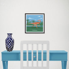 Ezposterprints - Coelophysis - Prehistoric Animals, Dinosaur Illustrations Series - 10x10 ambiance display photo sample