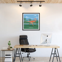 Ezposterprints - Coelophysis - Prehistoric Animals, Dinosaur Illustrations Series - 24x24 ambiance display photo sample
