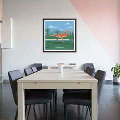 Ezposterprints - Coelophysis - Prehistoric Animals, Dinosaur Illustrations Series - 32x32 ambiance display photo sample