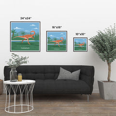 Ezposterprints - Coelophysis - Prehistoric Animals, Dinosaur Illustrations Series ambiance display photo sample