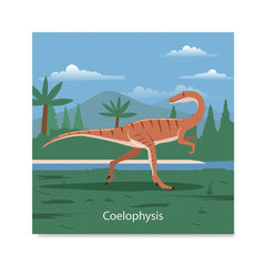 Ezposterprints - Coelophysis - Prehistoric Animals, Dinosaur Illustrations Series