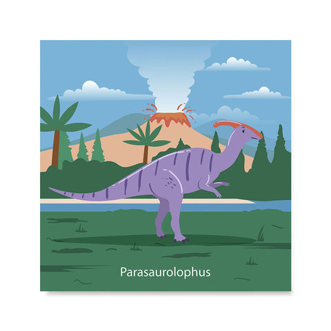 Ezposterprints - Parasaurolophus - Prehistoric Animals, Dinosaur Illustrations Series