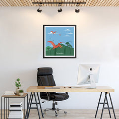 Ezposterprints - Pteranodon - Prehistoric Animals, Dinosaur Illustrations Series - 24x24 ambiance display photo sample