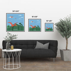 Ezposterprints - Pteranodon - Prehistoric Animals, Dinosaur Illustrations Series ambiance display photo sample
