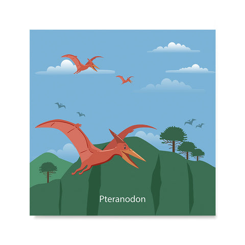 Ezposterprints - Pteranodon - Prehistoric Animals, Dinosaur Illustrations Series