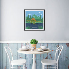 Ezposterprints - Spinosaurus - Prehistoric Animals, Dinosaur Illustrations Series - 16x16 ambiance display photo sample