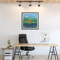 Ezposterprints - Spinosaurus - Prehistoric Animals, Dinosaur Illustrations Series - 24x24 ambiance display photo sample