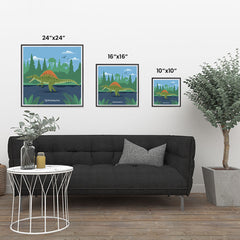 Ezposterprints - Spinosaurus - Prehistoric Animals, Dinosaur Illustrations Series ambiance display photo sample