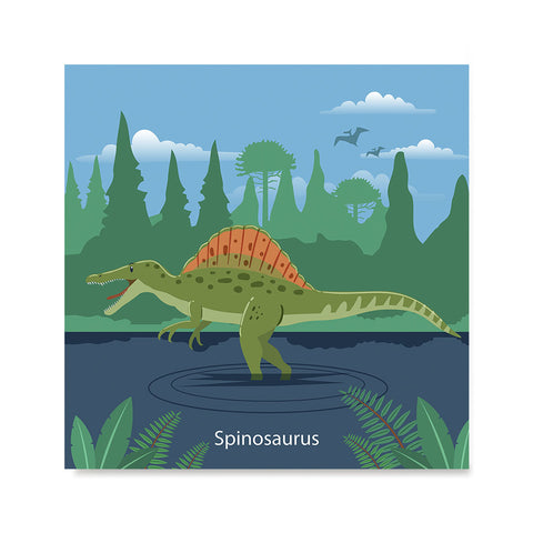 Ezposterprints - Spinosaurus - Prehistoric Animals, Dinosaur Illustrations Series
