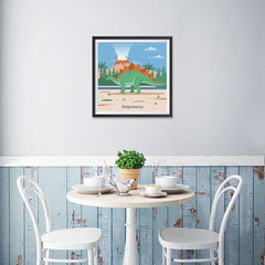Ezposterprints - Stegosaurus - Prehistoric Animals, Dinosaur Illustrations Series - 16x16 ambiance display photo sample