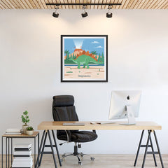 Ezposterprints - Stegosaurus - Prehistoric Animals, Dinosaur Illustrations Series - 24x24 ambiance display photo sample