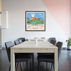 Ezposterprints - Stegosaurus - Prehistoric Animals, Dinosaur Illustrations Series - 32x32 ambiance display photo sample