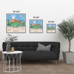 Ezposterprints - Stegosaurus - Prehistoric Animals, Dinosaur Illustrations Series ambiance display photo sample
