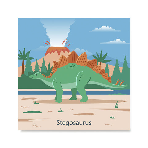 Ezposterprints - Stegosaurus - Prehistoric Animals, Dinosaur Illustrations Series