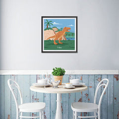 Ezposterprints - T-Rex - Prehistoric Animals, Dinosaur Illustrations Series - 16x16 ambiance display photo sample