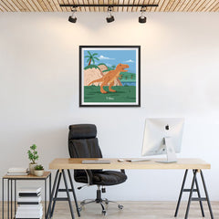 Ezposterprints - T-Rex - Prehistoric Animals, Dinosaur Illustrations Series - 24x24 ambiance display photo sample